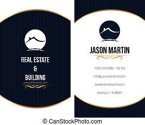 negocio bienes raíces, card.