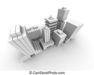 negocio bienes raíces, edificio comercial