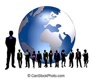 negocio global, gente