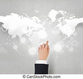 negocio global, interacción