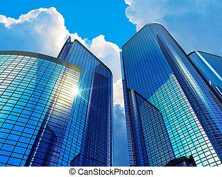 negocio moderno, edificios