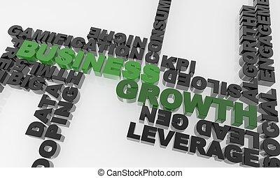 negocio verde, crecimiento, en, un, texto, mar, -, xxxl