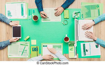 negocio verde, equipo