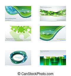negocio verde, tarjetas