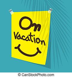 negocios, vacaciones, oficina, horario