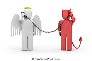 Negotiations between good and evil
