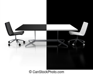 negotiations, confrontation 3d - negotiations, confrontation...