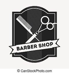 negozio barbiere, disegno