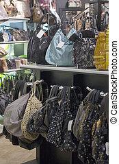 negozio, borse, vendita, femmina