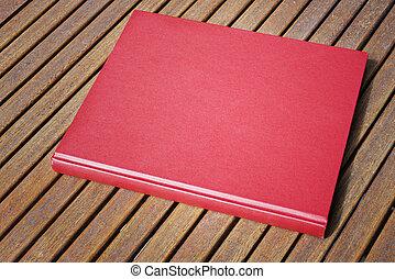 negozio, caffè, esterno, libro, tavola, rosso