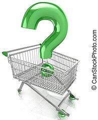 negozio, domanda, carrello