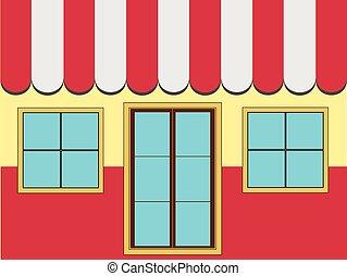 negozio, facciata, (vector)