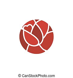 negozio, fiore, rosa, simbolo, emblem., fiori, logo.