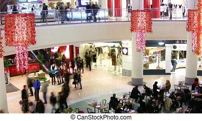 negozio, folla