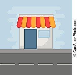 negozio, icona, immagine