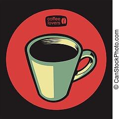 negozio, illustrazione, vettore, 5, caffè