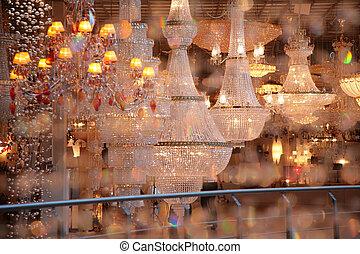 negozio, lanterne