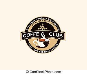 negozio, logotipo, caffè, disegno, sagoma