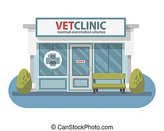 negozio, ospedale, coccolare, veterinario, animals., clinica...