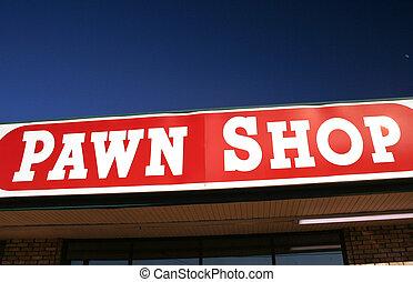 negozio, pegno, segno