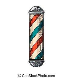 negozio, pole., barbiere, classico