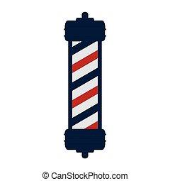 negozio, polo, barbiere, classico