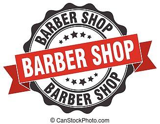 negozio, segno., stamp., barbiere, sigillo