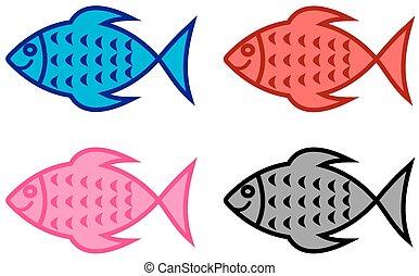 negozio, serie, fish