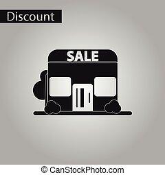 negozio, stile, vendita, nero, bianco, icona