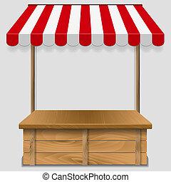 negozio, strisce, finestra, tenda
