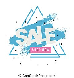 negozio, triangolo blu, cornice, vendita, vernice, vettore, fondo, ora, immagine