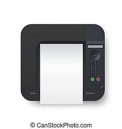 negro, a4, realista, impresora láser, papel