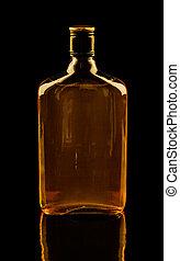 negro, aislado, whisky