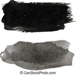 negro, blots, conjunto