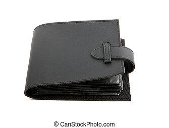 negro, bolsa, aislado