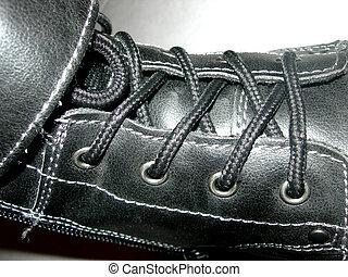 negro, bota