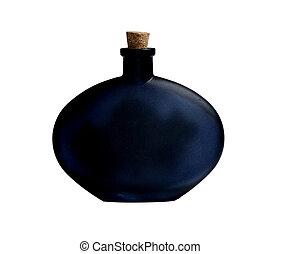 negro, botella