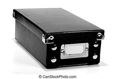 negro, caja