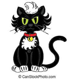 negro, cat.