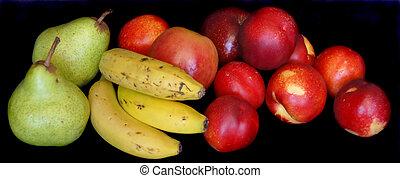 negro, contra, Plano de fondo, frutas