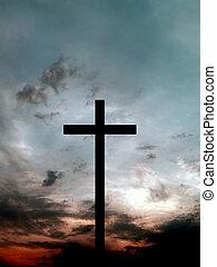 negro, cruz