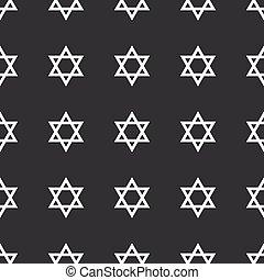negro, derecho, david, estrella, patrón
