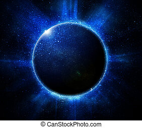 negro, eclipse, solar, plano de fondo