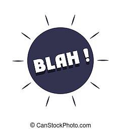 negro, expresión, blanco, diseño, plano de fondo, argot, plano, blah, icono, burbujas, encima