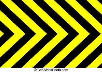 negro, fondo amarillo