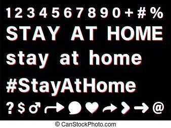 negro, fondo., señal, blanco, estancia, hogar