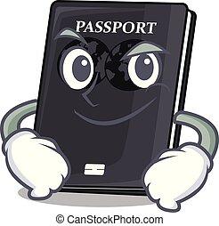 negro, forma, carácter, pasaporte, el smirking