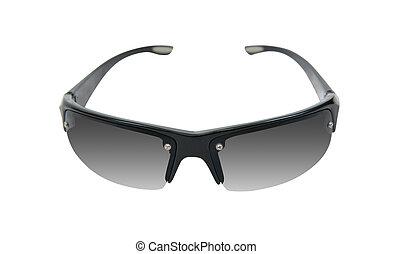 negro, gafas de sol