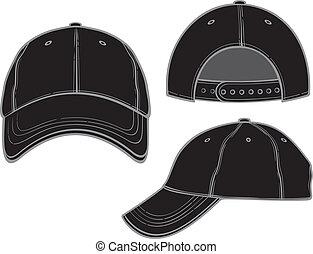negro, gorra de béisbol