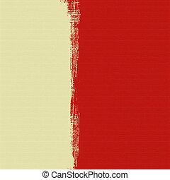 negro, hoja, impresión, en, crema, caja, en, rojo, acanalado